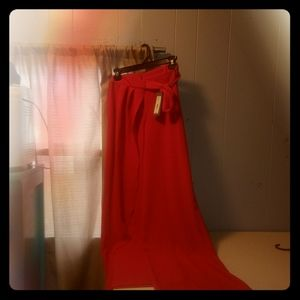 Red Palazzo pants nwt